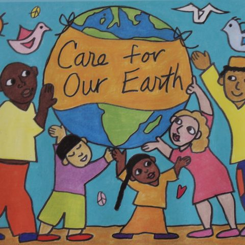 Care for Our Earth 18 x 24 Earth Day poster/backdrop
