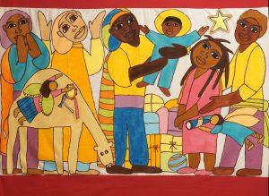Three Kings tablecloth, painting, wall-hanging, backdrop